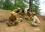 FOREST GUARD FROM F.T.I. CHAIL UNDER FIELD TRAINING